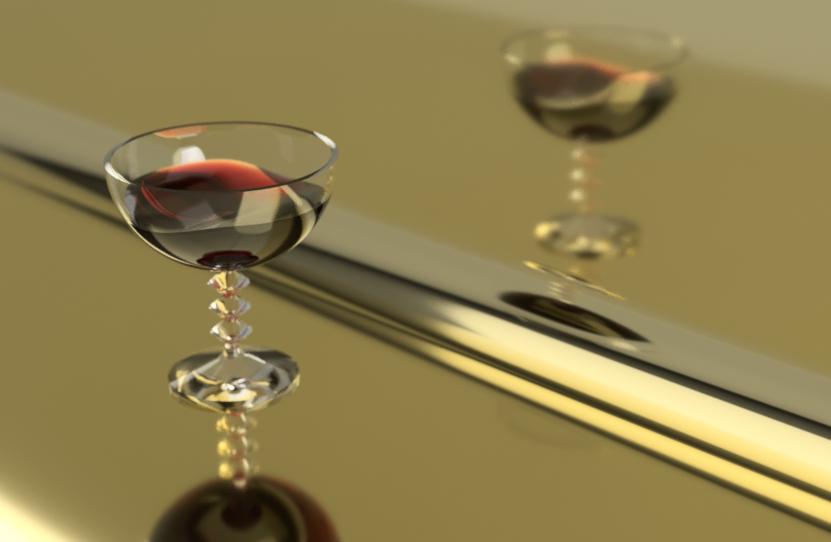 ワイングラスのモデリング
