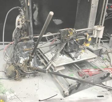 3Dプリンター事故の現場